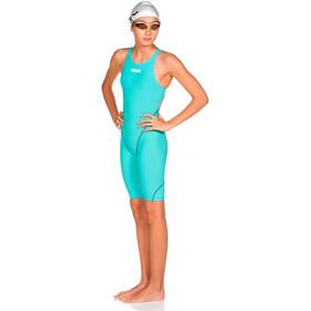 arena Powerskin St 2.0 Short Leg Open Einteiler Mädchen aquamarine